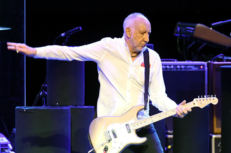 Guitarist Pete Townshend of The Who performs