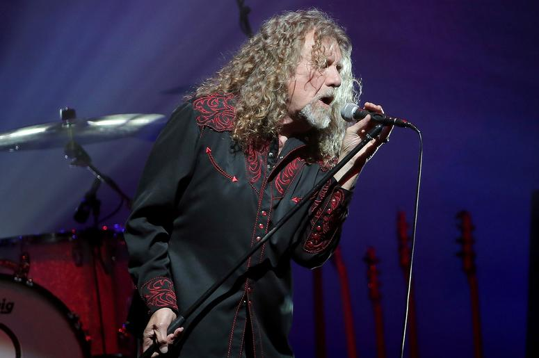 Robert Plant reacts