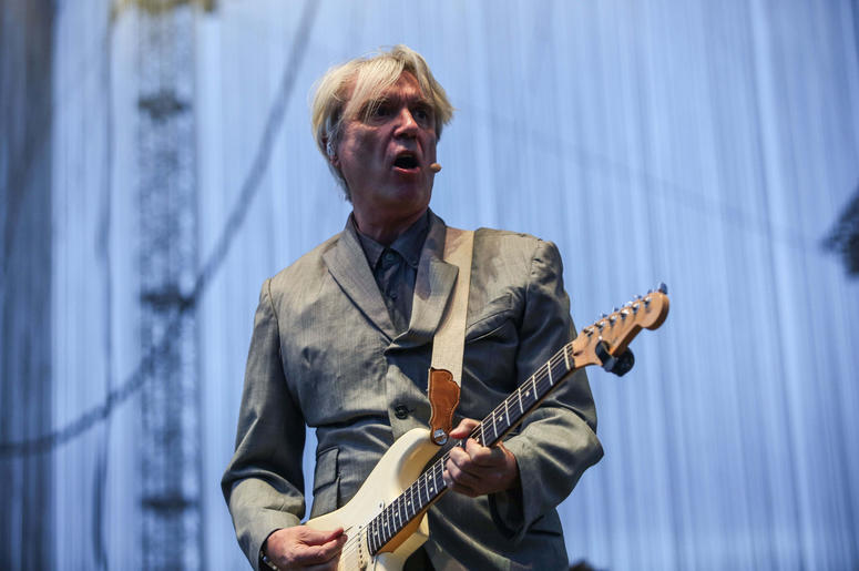 David Byrne performs