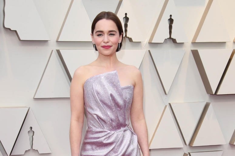 Emilia Clarke arrives at the 91st Academy Awards at the Dolby Theatre.