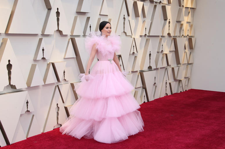 Kacey Musgraves arrives at the 91st Academy Awards at the Dolby Theatre.
