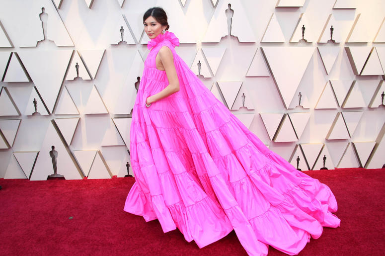 Gemma Chan arrives at the 91st Academy Awards at the Dolby Theatre.