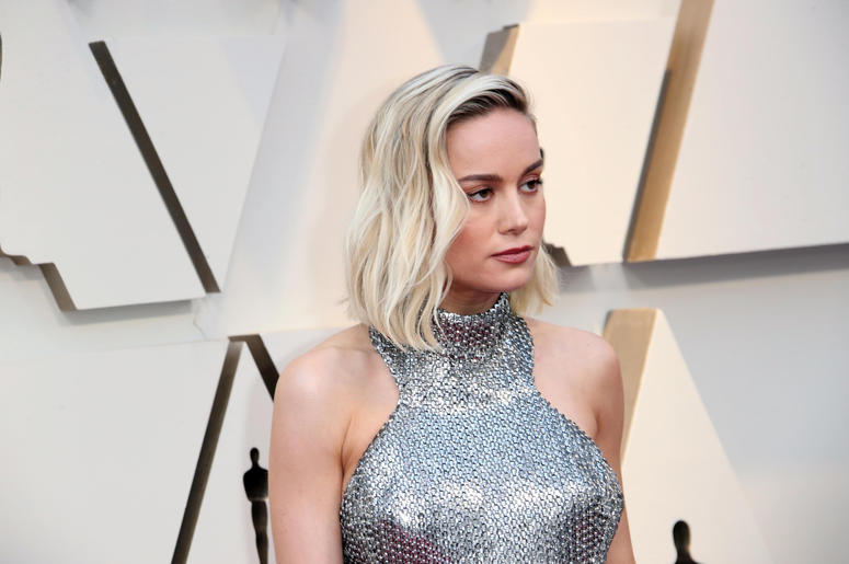 Brie Larson arrives at the 91st Academy Awards at the Dolby Theatre.