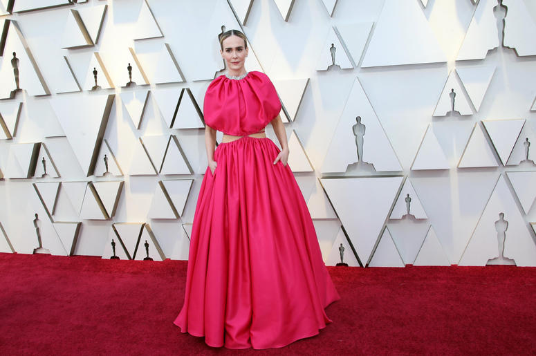 arah Paulson arrives at the 91st Academy Awards at the Dolby Theatre.