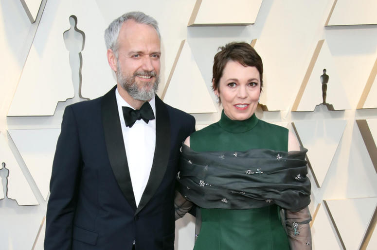 d Sinclair, left, and Olivia Colman arrive at the 91st Academy Awards at the Dolby Theatre.