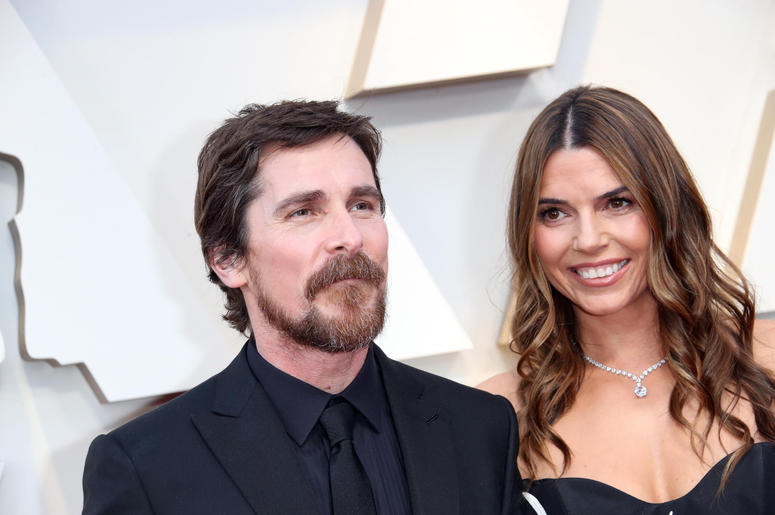 hristian Bale, left and Sibi Blazic arrive at the 91st Academy Awards at the Dolby Theatre.