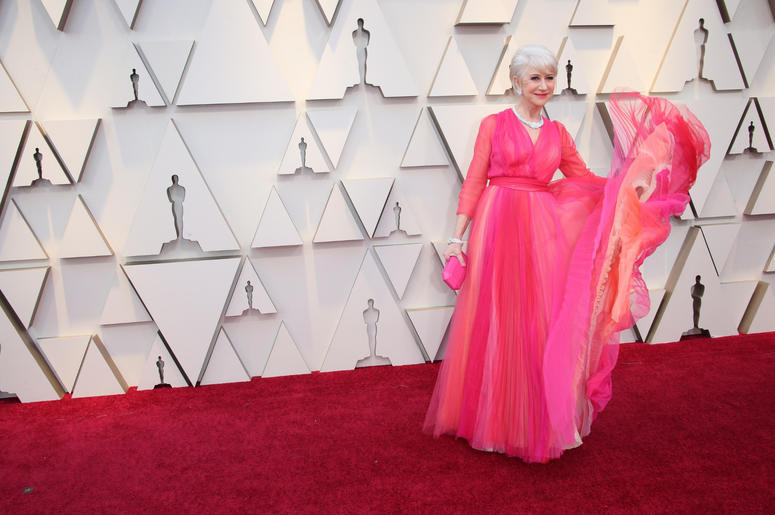 Helen Mirren arrives at the 91st Academy Awards at the Dolby Theatre