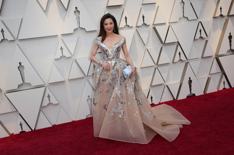 Michelle Yeoh arrives at the 91st Academy Awards at the Dolby Theatre.