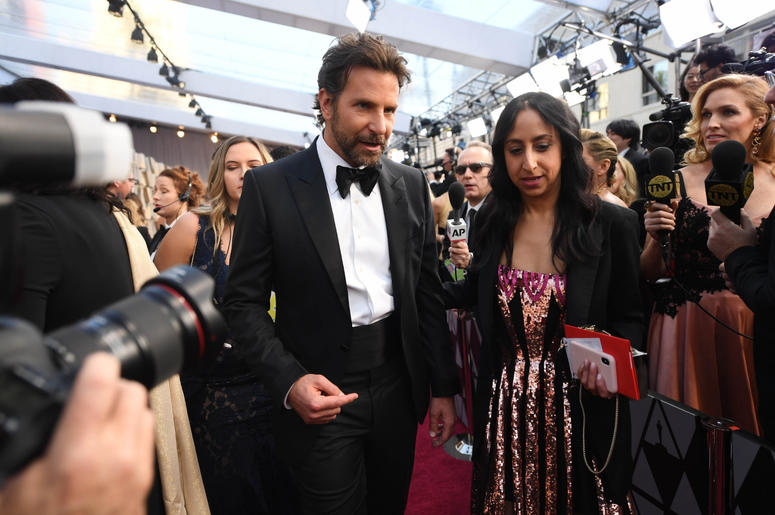 Bradley Cooper arrives at the 91st Academy Awards at the Dolby Theatre.