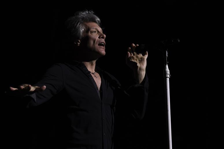 Jon Bon Jovi performs