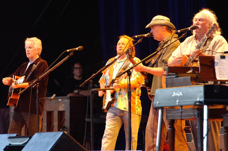 Graham Nash, Steven Stills, Neil Young and David Crosby