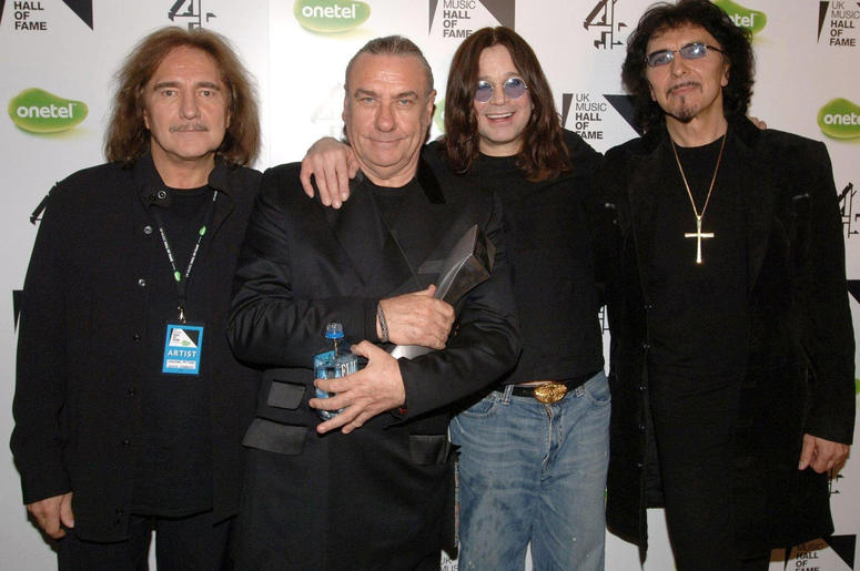 (left to right bassist Geezer Butler, drummer Bill Ward, singer Ozzy Osbourne and guitarist Tony Iommi
