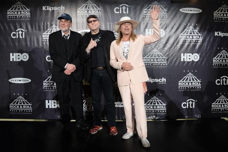 Inductees Bun E. Carlos, Robin Zander and Rick Nielsen of Cheap Trick