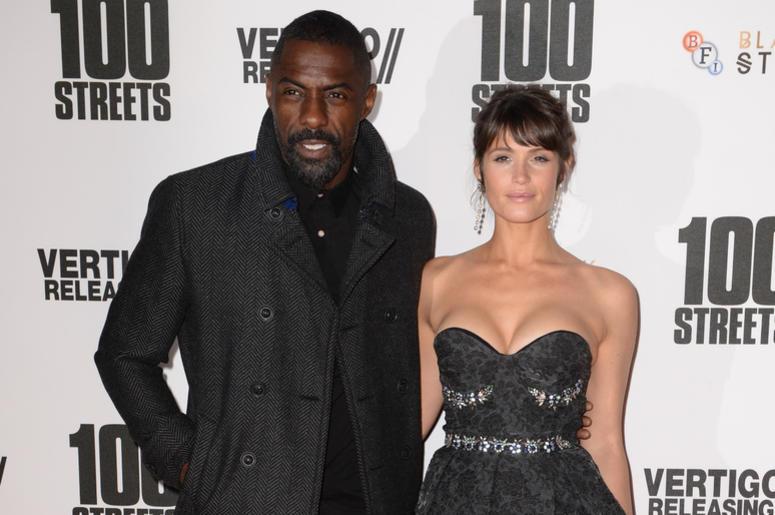 Idris Elba and Gemma Arterton arriving at the 100 Streets Premiere, BFI Southbank, London