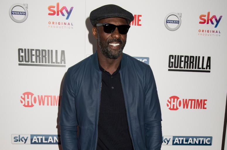 Idris Elba arrives at Sky Atlantic's Guerilla UK premiere at the Curzon, Bloomsbury, London. Picture date: Thursday 6th April 2017.