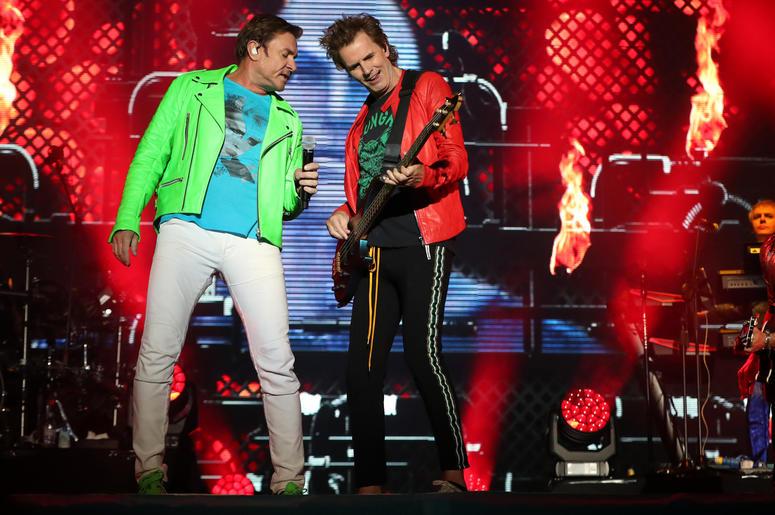 Simon Le Bon and John Taylor as Duran Dura