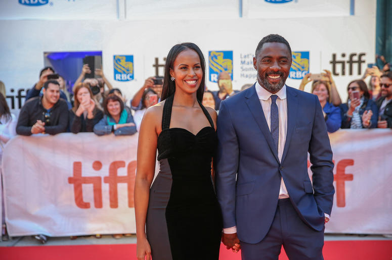 """Idris Elba and Sabrina Dhowre attend the """"The Mountain Between Us"""" Premiere during the 2017 Toronto International Film Festival at the Roy Thompson Theatre, in Toronto, Canada, on September 9 2017."""