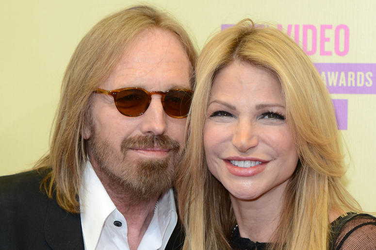 Tom Petty, whio has died aged 60, and his wife, Dana.