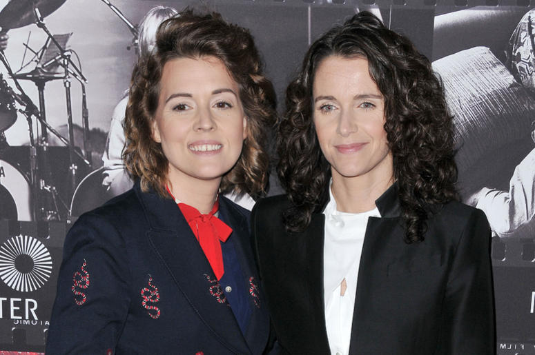 Brandi Carlile and Catherine Shepherd at the JONI 75: A Birthday Celebration held at the Dorothy Chandler Pavilion in Los Ange;e, CA Wednesday, ​November 7, 2018.