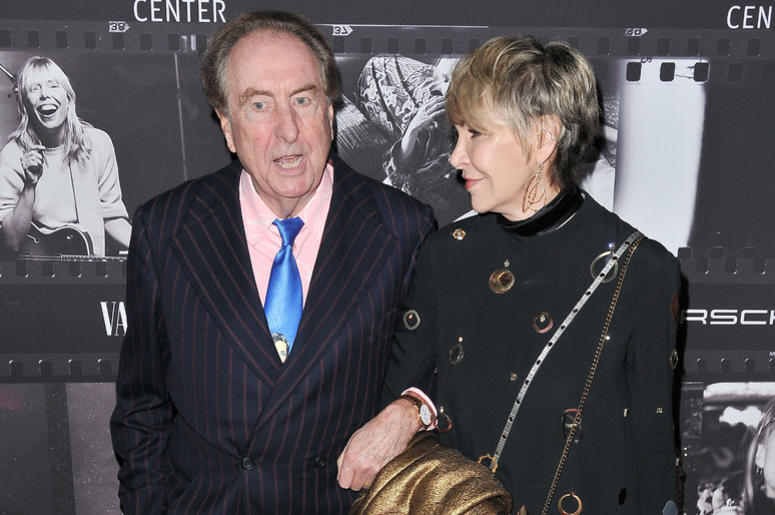 Eric Idle and Tania Kosevich at the JONI 75: A Birthday Celebration held at the Dorothy Chandler Pavilion in Los Ange;e, CA Wednesday, ​November 7, 2018.