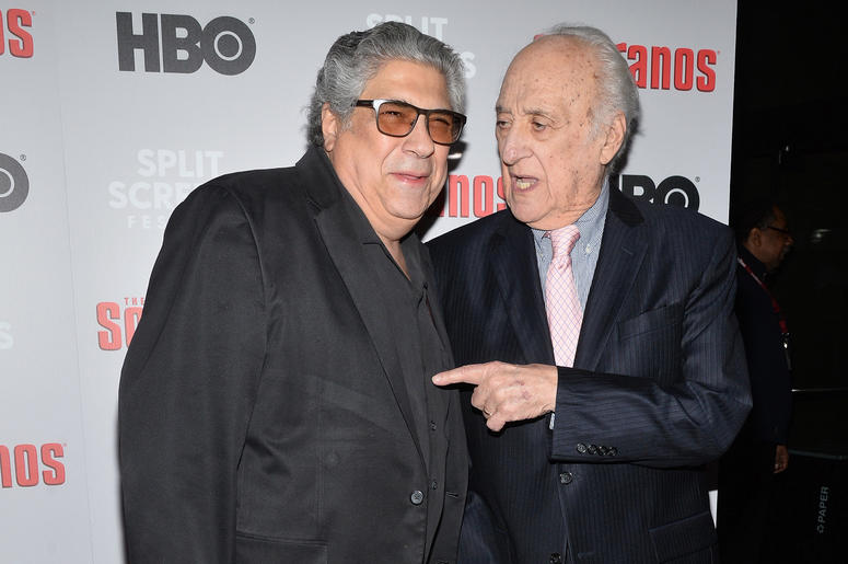 Actors Vincent pastor and Jerry Adler attend The Sopranos 20th Anniversary Red carpet and Panel Discussion during the Sopranos Film Festival at SVA Theatre in New York, NY, January 9, 2019.