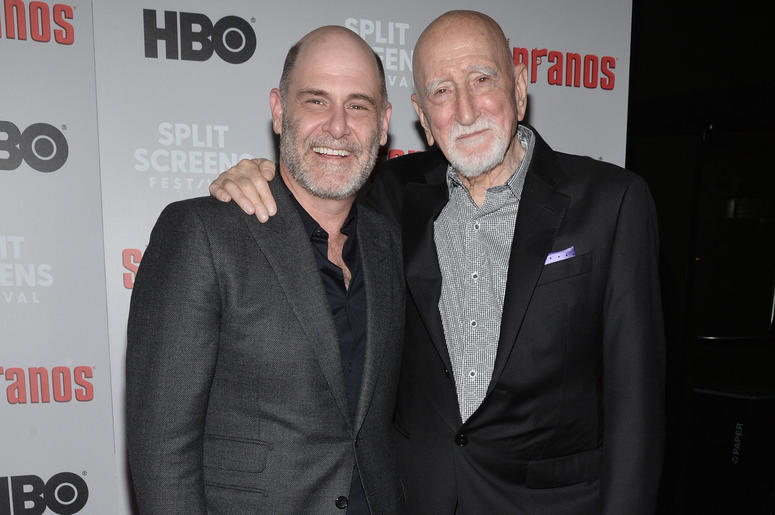 Executive Producer Matthew Weiner and actor Doinic Chianese attend The Sopranos 20th Anniversary Red carpet and Panel Discussion during the Sopranos Film Festival at SVA Theatre in New York, NY, January 9, 2019.