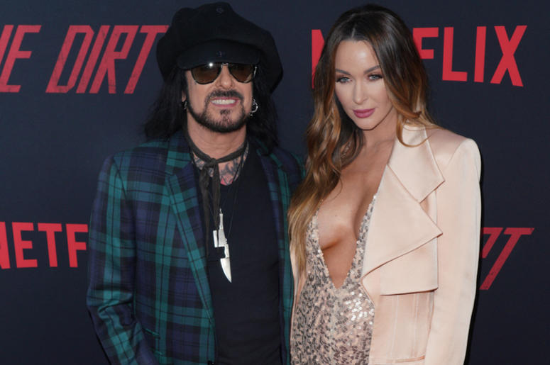 Nikki Sixx and Courtney Sixx at Los Angeles Premiere Of Netflix's 'The Dirt' held at The ArcLight Hollywood - Cinerama Dome on March 18, 2019 in Hollywood, CA,
