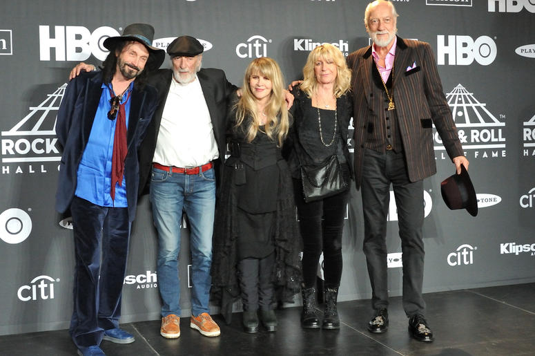 Fleetwood Mac in the press room at the 2019 Rock and Roll Hall of Fame Induction Ceremony at the Barclays Center in Brooklyn, NY on March 29, 2019.