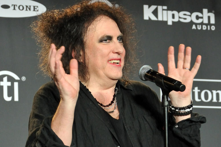 Robert Smith of The Cure in the press room at the 2019 Rock and Roll Hall of Fame Induction Ceremony at the Barclays Center in Brooklyn, NY on March 29, 2019.