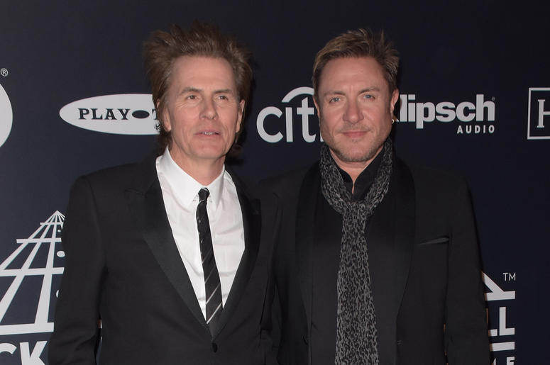 John Taylor and Simon Le Bon of Duran Duran attends the 2019 Rock & Roll Hall Of Fame Induction Ceremony at Barclays Center on March 29, 2019 in Brooklyn, New York.