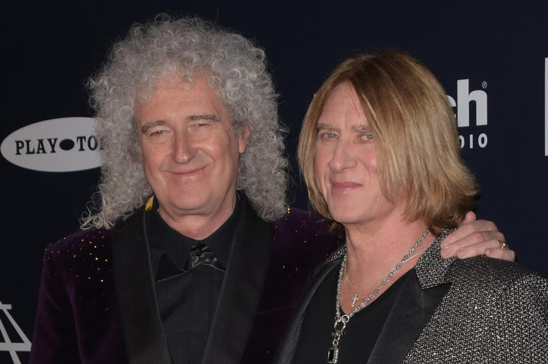 Brian May, Joe Elliot of Def Leppard attend the 2019 Rock & Roll Hall Of Fame Induction Ceremony at Barclays Center on March 29, 2019 in Brooklyn, New York.