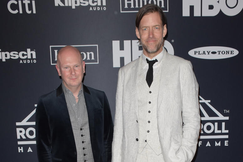 Philip Selway and Ed O'Brien of Radiohead attend the 2019 Rock & Roll Hall Of Fame Induction Ceremony at Barclays Center on March 29, 2019 in Brooklyn, New York.