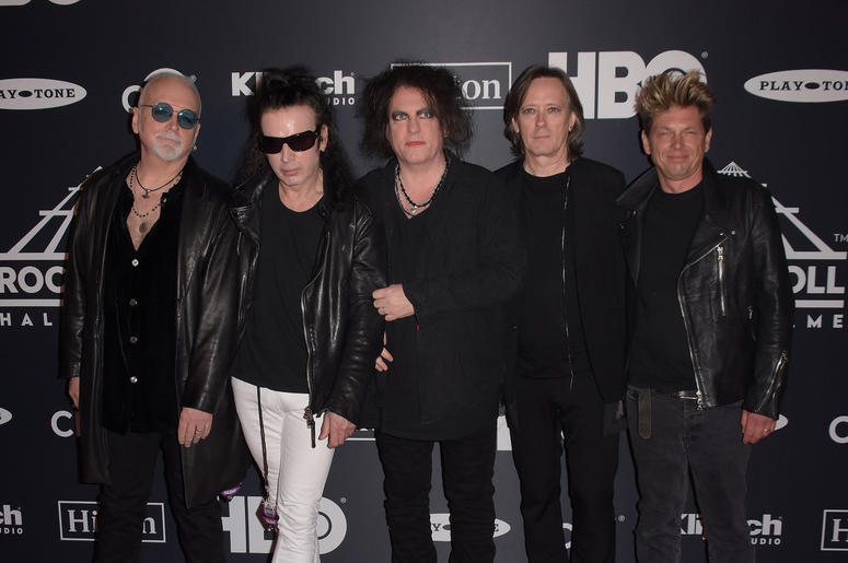 Reeves Gabrels, Simon Gallup, Robert Smith, Roger O'Donnell and Jason Cooper of The Cure attends the 2019 Rock & Roll Hall Of Fame Induction Ceremony at Barclays Center on March 29, 2019 in Brooklyn, New York.
