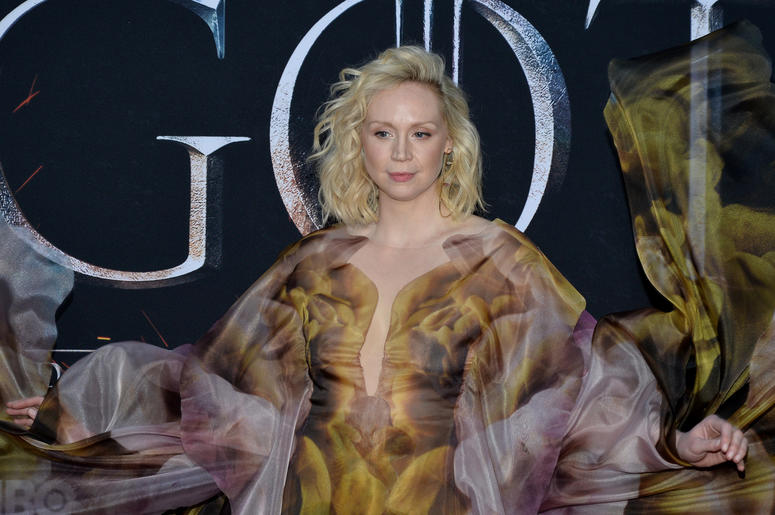"Gwendoline Christie attend HBO's ""Game of Thrones"" eight and final season premiere at Radio City Music Hall in New York, NY, April 3, 2019."