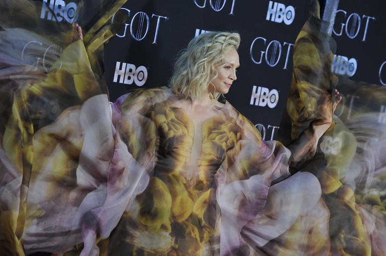 """Gwendoline Christie attend HBO's """"Game of Thrones"""" eight and final season premiere at Radio City Music Hall in New York, NY, April 3, 2019."""