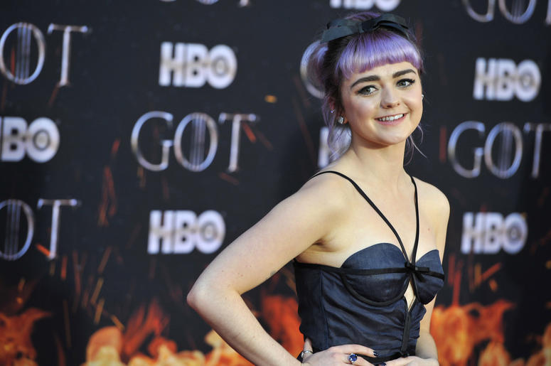 "Maisie Williams attends HBO's ""Game of Thrones"" eight and final season premiere at Radio City Music Hall in New York, NY, April 3, 2019. ("