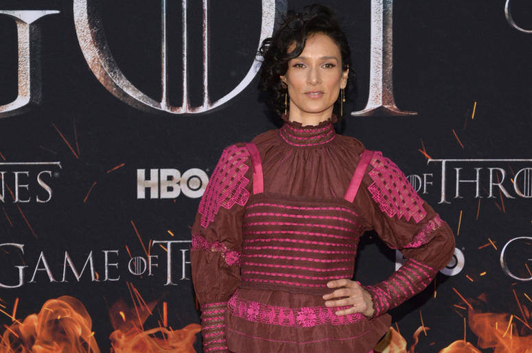 "Indira Varma attends HBO's ""Game of Thrones"" eight and final season premiere at Radio City Music Hall in New York, NY, April 3, 2019."