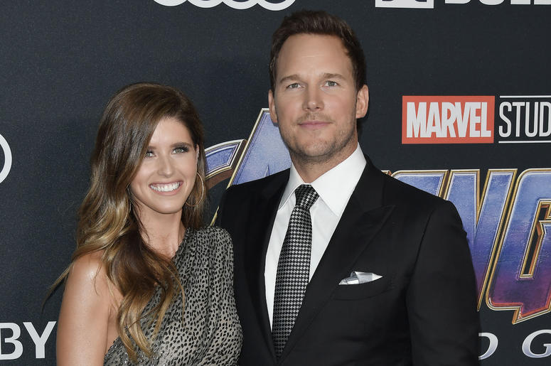 """(L-R) Katherine Schwarzenegger and Chris Pratt at Marvel Studios' """"Avengers: Endgame"""" World Premiere held at the Los Angeles Convention Center in Los Angeles, CA on Monday, April 22, 2019."""