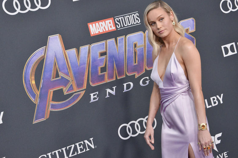 """Brie Larson arrives at Marvel Studios' """"Avengers: Endgame"""" World Premiere held at the Los Angeles Convention Center in Los Angeles, CA on Monday, April 22, 2019."""