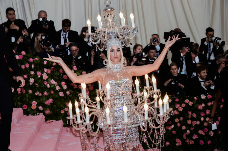 Katy Perry walking on the red carpet at The Metropolitan Museum of Art Costume Institute Benefit