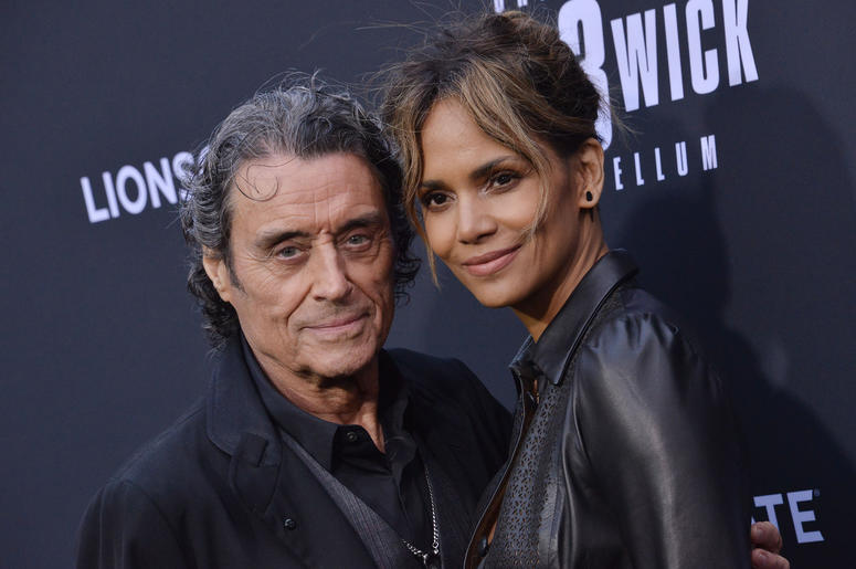 "(L-R) Ian McShane and Halle Berry at Lionsgate's ""John Wick: Chapter 3 - Parabellum"" Los Angeles Special Screening held at the TCL Chinese Theater in Hollywood, CA on Wednesday, May 15, 2019."