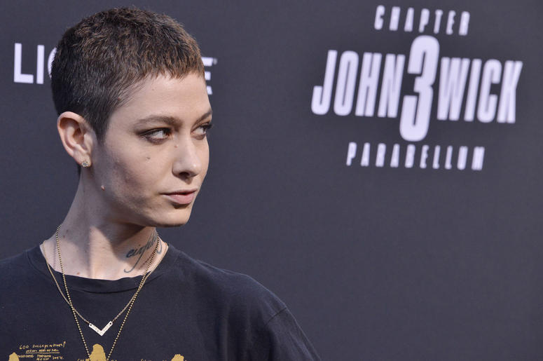 "Asia Kate Dillon arrives at Lionsgate's ""John Wick: Chapter 3 - Parabellum"" Los Angeles Special Screening held at the TCL Chinese Theater in Hollywood, CA on Wednesday, May 15, 2019. ("