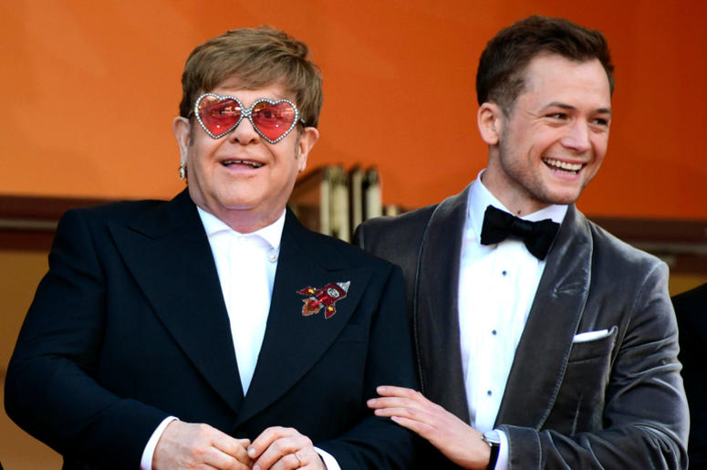72nd Cannes Film Festival 2019, Red Carpet Rocketman. Pictured : Elton John, Taron Egerton