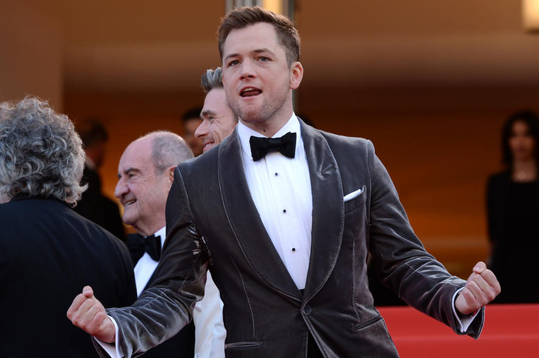 Taron Egerton attending the Rocketman premiere, held at the Grand Theatre Lumiere during the 72nd Cannes Film Festival.