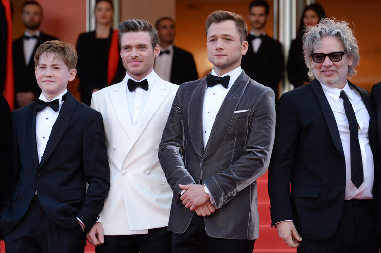 Kit Connor, Richard Madden, Taron Egerton and Dexter Fletcher attending the Rocketman premiere, held at the Grand Theatre Lumiere during the 72nd Cannes Film Festival.