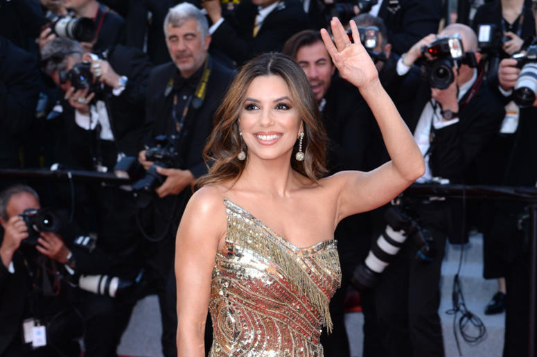 Eva Longoria attending the Rocketman premiere, held at the Grand Theatre Lumiere during the 72nd Cannes Film Festival.