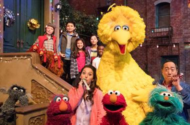 "Big Bird, Elmo and stars of ""Sesame Street"""
