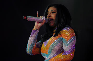 Cardi B performs during the 2019 Bonnaroo Music & Arts Festival in Manchester, Tennessee