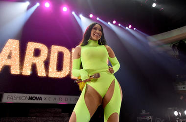 Cardi B performs onstage as Fashion Nova Presents: Party With Cardi at Hollywood Palladium on May 9, 2019 in Los Angeles, California