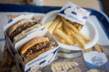 White Castle hamburgers and fries